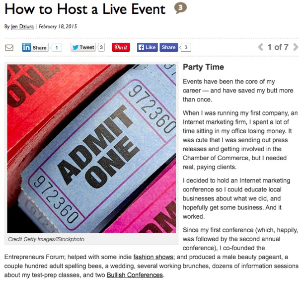 Host a Live Event