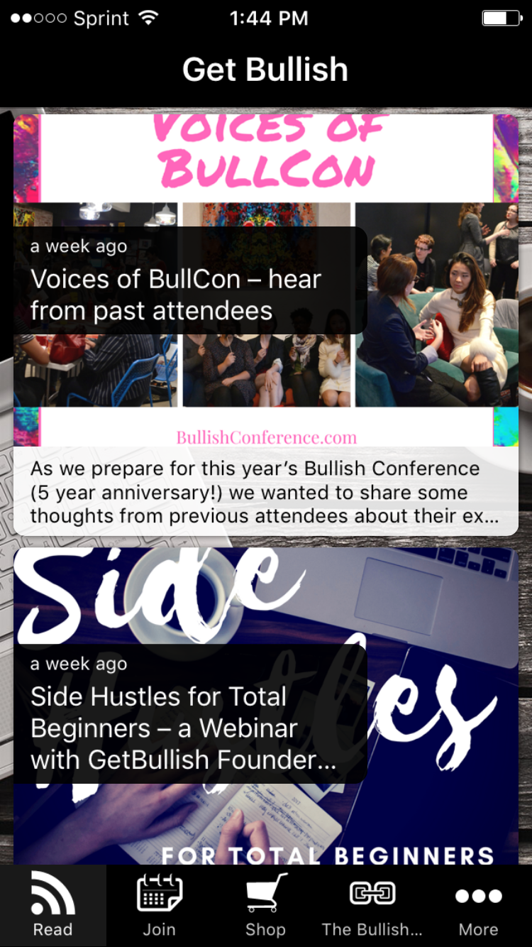 Download the Get Bullish app to stay up to date with things happening in the bulliverse.