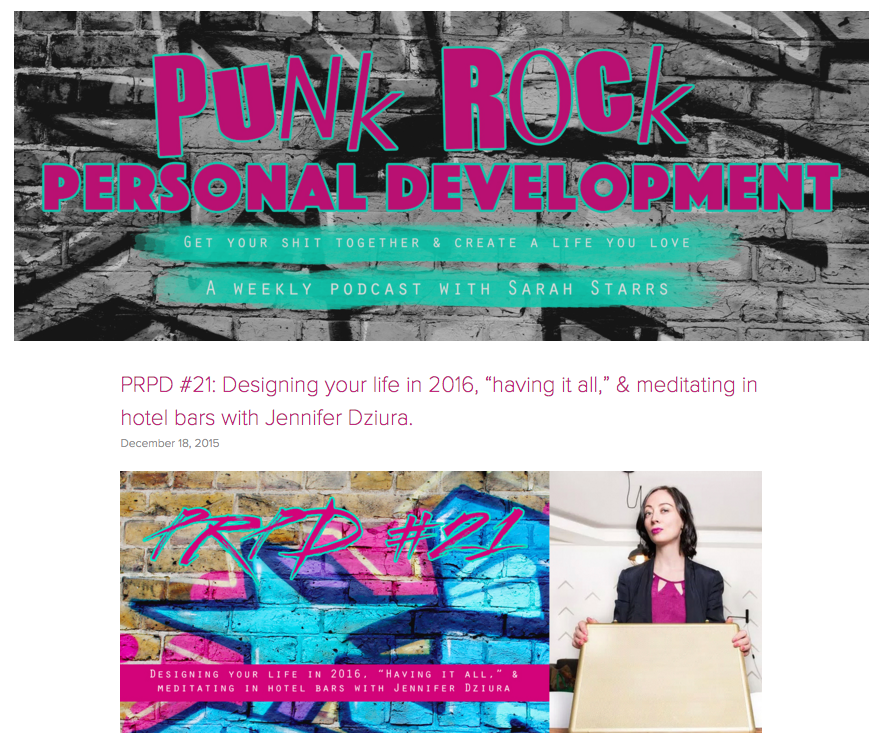 punk rock personal development
