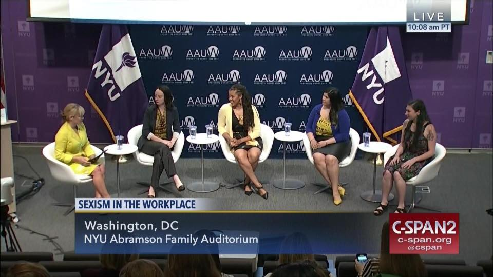 Jen Dziura on C-SPAN panel on feminism in the workplace.