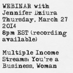 March 27: Multiple Income Streams Webinar (Recording Available)