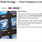 Bullish on DailyWorth…Your Social Media Strategy – From Facebook to LinkedIn